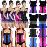 2016 new design high quality zipper corset waist trainer vest