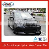 High Quality New Carbon Fiber HM Front Bumper Lip for BMW 5 series E60 M5