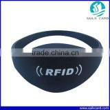 Black 13.56mhz Silicone Closed Type S50 Rfid silica Gel Wristband