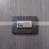 Black Debossed Leather Label With Metal Label For Garment                                                                         Quality Choice