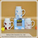 Made in China dehua mug with spoon