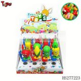 Children small toy walking vegetable candy capsule toy