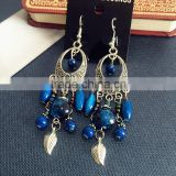 Wholesale Fashion Yiwu Antique Bronze Multi-color Bead Big Chandelier Earrings