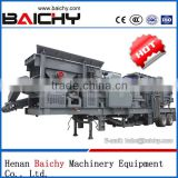 Favorites Compare Saving 1/3 energy mobile tire crusher produced by Baichy professional manufacture