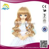2014 New arrival High Temperature Fiber curly doll wig