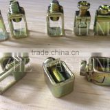 yellow zinc plated wire connector electric meter terminal blocks