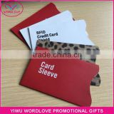RFID Credit Card Shield, Anti Data Theft Aluminum Foil RFID Blocking Sleeves For Bank Card