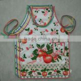 customized terry material or pvc material hostess apron adult easy wipe apron