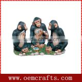 High Quality Handmade Resin Monkey Statues