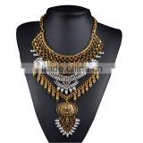 Summer Style Long Bohemian Alloy Maxi Necklace Exaggerated Crystal Pendant Necklaces Collier Fine Jewelry