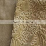 embossed 100% polyester velvet fabric for sofa,chair,upholstery,hometextile,velour fabric