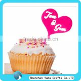 red small acrylic wedding cupcake topper,Cheap cake topper wholesale