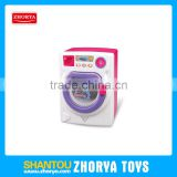 Battery operated pretend play toys kids Home appliances mini washing machine toys with sound and light