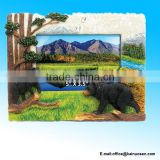Black Bear Resin Stone Finish Picture / Photo Frame - Animals Collection