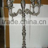 New embose antique Candelabra/silver antique Candelabra For Wedding Decoration, Candle Holder Centerpiece