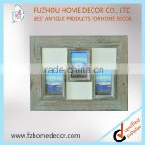 multiple wooden photo frame with triangle hook and three window new models for home decor