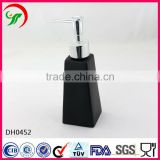 custom innovative and creative products elegant Lotion Bottle black 200ml ceramic Liquid Soap Dispenser