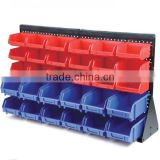 30 plastic storage bin kit, wall mount parts bins,combination boxes,plastic bin shelf (202712)