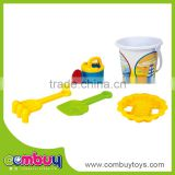 Summer outdoor items plastic white beach sand bucket set toy