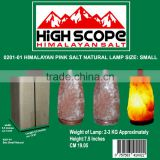 Himalayan Pink Salt Lamp Natural shape with 6ft cord, 15 watt bulb 110 or 220 volts with dimmer full set 2- 3kg or 6 pounds