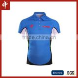 China Manufacture Custom Made Sublimation polos,casual Jersey Uniform Design,Sky blue/Cyan Shirts