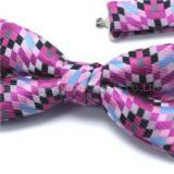 1200 Needle Microfiber Italian Style Woven Classic Striped Paisley Polka Dots Checker Plaid Bowtie