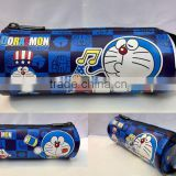 New Style Lovely Cartoon Doraemon Pencil Bag Blue Cat PU Zipper Pencil Bag Stationery For School Students