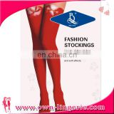 Wholesale fashion young girls knit stockings cute red cotton christmas stocking