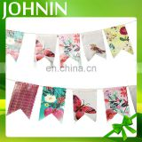 High quality decorative colored custom design polyester bunting/banner