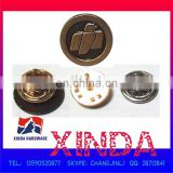 15mm metal alloy round emblem badge with butterfly pin