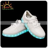 China luminous LED men shoes low moq oem adult flash lamp sneakers