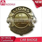 Top sale 2D design antique copper stick on car badges