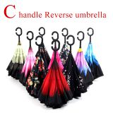 RST brand new product hot sale C handle inverted double layer Reverse Umbrella top quality low price promotion cheap umb