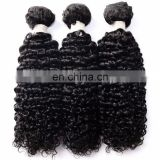 virgin natural curly human hair extensions