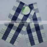 white and deep blue check kitchen towel