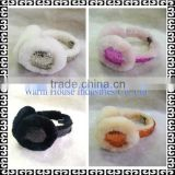 2016 Winter Fashion Sheepskin Ear muff /cute winter ear muffs/Fur Earmuff                                                                         Quality Choice