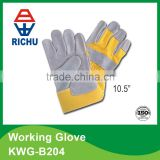 10.5 inch cowhide leather working gloves KWG-B204                                                                         Quality Choice