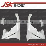 2008-2013 VA WALD STYLE GLASS FIBER FRONT FENDER WITH CARBON FIBER FIN FOR NISSAN R35 GTR FENDER (JSK220999)