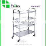 Hotel And Restaurant Supplies 4-tier stainless steel trolley , food Service trolley                                                                         Quality Choice