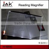 JAK 3 LED book light promotional book light reading light with magnifier