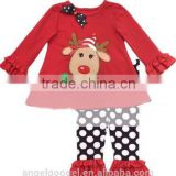 New arrival children's Kids Christmas Pajamas boutique red striped wholesale MY-IA0010