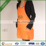 Stock wholesale orange/red/custom reusable cooking apron,leather welding apron
