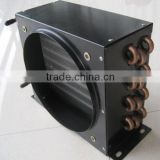 refrigeration copper air cooled condensor with fan motor