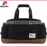 brand duffle bag travel duffel teeange cotton fabric with nubuck leather