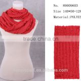 sexy women adult red cirlce loop hoop infinity scarf soild color w ball hoop scarfs gagged