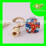 New Design&Hot Selling Hanging Car Perfume glass Bottle with wooden cap