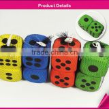 color foam dice with black dot 2 pcs set