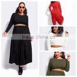 F20433A High quality wholesale women plus size pants and long sleeve blouse plus size women clothing for fat ladies                                                                                                         Supplier's Choice