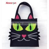 55033# creative varied felt handbag, felt tote bag,felt shopping bag of animals                                                                         Quality Choice