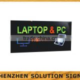 Neon Laptop & Pc Repairs Ipad Mac Monitor Multi Flashing lighting sign board for shops